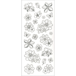 Flowers - Living In Color Art Therapy Glitter Stickers