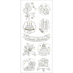 Birthday - Living In Color Art Therapy Glitter Stickers