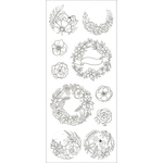 Laurel Wreath - Living In Color Art Therapy Glitter Stickers