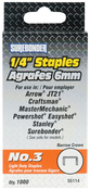 "Easy Tacker Staples 1/4"" 1,000/Pkg"
