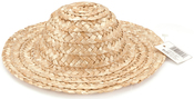 Natural - Round Top Straw Hat 8""