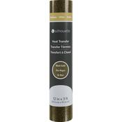 "Black Gold - Silhouette Glitter Heat Transfer Material 12""X36"""