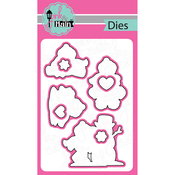 Frosty Friends, 8/Pkg - Pink And Main Dies