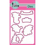 Santa Paws, 7/Pkg - Pink And Main Dies