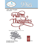 Warm Thoughts - Elizabeth Craft Metal Die