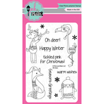 """Oh Deer - Pink & Main Clear Stamps 4""""X6"""""""