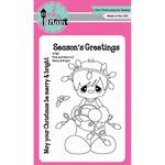 """Merry & Bright - Pink & Main Clear Stamps 3""""X4"""""""