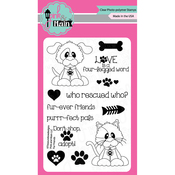 """Fur Friends - Pink & Main Clear Stamps 4""""X6"""""""