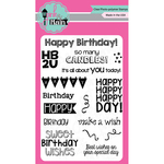 """Birthday Wishes - Pink & Main Clear Stamps 4""""X6"""""""