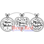 """Warm Hearts - Deep Red Cling Stamp 3.25""""X1.5"""""""