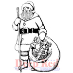 """Old Saint Nick - Deep Red Cling Stamp 2.25""""X3"""""""