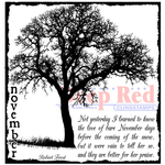 """November Frost - Deep Red Cling Stamp 3""""X3"""""""