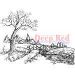 "Autumn Brook - Deep Red Cling Stamp 3""X4"""