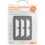 White Rounded - Slice Smarty Series Ceramic Replacement Blades 3/Pkg