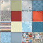 "7 Double-Sided & 2 Single-Sided - ScrapBerry's Once Upon A Winter Paper Pack 12""X12"" 9/Pkg"