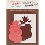 """Cut Flowers - Studio 490 Stamp It Stencil It 7""""X8.5"""""""