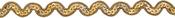 """Gold - Sequin Trim 7/16""""X3ft"""