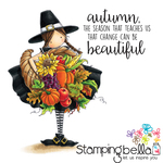 """Tiny Townie Casey Has A Cornucopia - Stamping Bella Cling Stamp 6.5""""X4.5"""""""