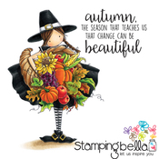 "Tiny Townie Casey Has A Cornucopia - Stamping Bella Cling Stamp 6.5""X4.5"""