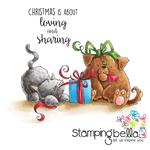"Christmas Tug Of War - Stamping Bella Cling Stamp 6.5""X4.5"""
