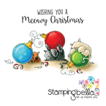 """Meowy Christmas - Stamping Bella Cling Stamp 6.5""""X4.5"""""""