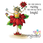 """Tiny Townie Pamela The Poinsettia - Stamping Bella Cling Stamp 6.5""""X4.5"""""""