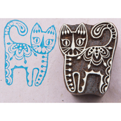 Curious Cat - Blockwallah Block Stamp