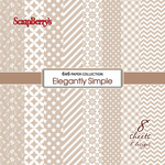 """Iced Coffee, 8 Single-Sided Designs/1ea - ScrapBerry's Elegantly Simple Paper Pack 6""""X6"""" 8/Pkg"""