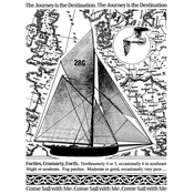 """Come Sail With Me - Crafty Individuals Unmounted Rubber Stamp 4.75""""X7"""" Pkg"""
