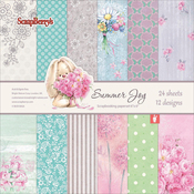 "12 Single-Sided Designs/2 Each - ScrapBerry's Summer Joy Paper Pack 6""X6"" 24/Pkg"