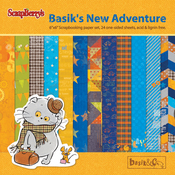 "12 Single-Sided Designs/2 Each - ScrapBerry's Basik's New Adventure Paper Pack 6""X6"" 24/Pkg"
