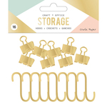 Gold - Wire System Hooks 16/Pkg