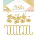 Gold - Wire System Hooks 16/Pkg