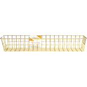 Medium Gold - Wire System Metal Storage Bin
