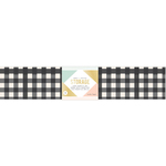Large Black/White Stripes - Desktop Storage Magnetic Box