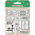 "Spirit Of Giving - ScrapBerry's Happy Holiday Clear Stamps 4""X4"""