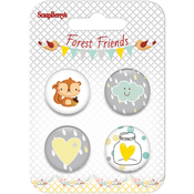 #1 - ScrapBerry's Forest Friends  Button Embellishments