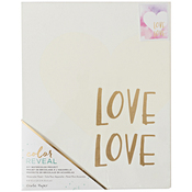 "Love Love - Color Reveal Watercolor Panel 8""X10"""