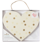 "Dots - Color Reveal Watercolor Heart Panel 10.5""X8.75"""