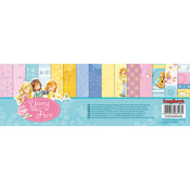 "6 Double-Sided & 3 Single-Sided - ScrapBerry's Young And Free Paper Pack 12""X12"" 9/Pkg"