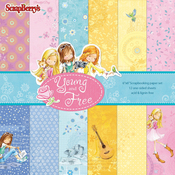 "Single-Sided - ScrapBerry's Young And Free Paper Pack 6""X6"" 12/Pkg"