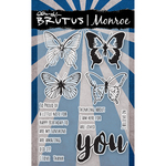 Butterfly Sentiments - Brutus Monroe Clear Stamps 4X6