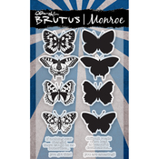 Butterfly Sentiments 2 - Brutus Monroe Clear Stamps 4X6