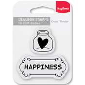 "Happiness - ScrapBerry's Forest Friends Clear Stamps 2.7""X2.7"""