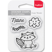 "Nature - ScrapBerry's Forest Friends Clear Stamps 2.7""X2.7"""