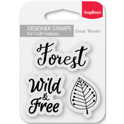 "Forest - ScrapBerry's Forest Friends Clear Stamps 2.7""X2.7"""