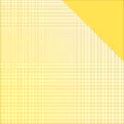 "Sunflower Yellow Check/Yellow Solid - Authentique Micro Basics Double-Sided Cardstock 12""X12"""