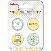 #3 - ScrapBerry's Forest Friends  Button Embellishments