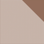 "Milk Chocolate Brown Check/Brown Solid - Authentique Micro Basics Double-Sided Cardstock 12""X12"""