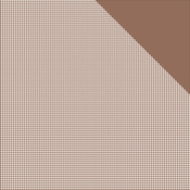 """Milk Chocolate Brown Check/Brown Solid - Authentique Micro Basics Double-Sided Cardstock 12""""X12"""""""